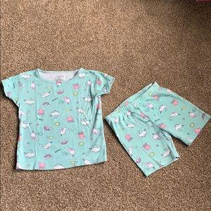 🐳2/$12🦄 Carter's Toddler Girls Shorts Pajamas 3T